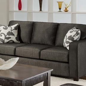 Armen Living Upholstered Armrests Sofa with Back Cushion