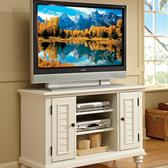 Bermuda TV Stand in Brushed White
