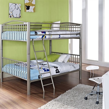 Heavy Metal Full Over Full Bunk Bed In Pewter
