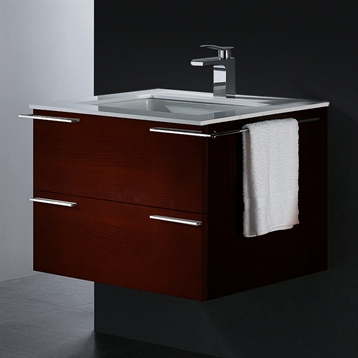 "31"" Single Bathroom Vanity in African Walnut"