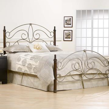 Barclay Hillsdale Kingsfort Metal and Cherry Bed