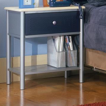 Universal Nightstand in Silver with Navy