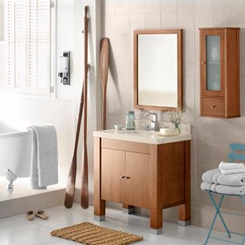 """Devon 31"""" Wood Vanity Cabinet with Double Wood Door and Adjustable Shelf"""