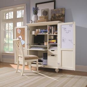 Camden Light Home Office Cabinet In White