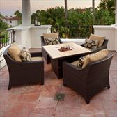 Delano 5 Piece Fire Table Seating Set