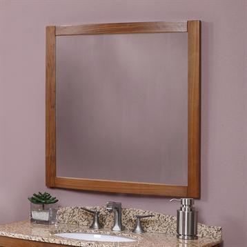 Gavin Wall Mirror in Medium Walnut