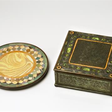 Mosaic Trivet and Utility Box