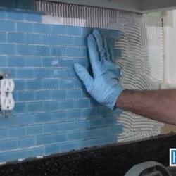 Inspect completely tiled backsplash