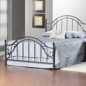 Barclay Hillsdale Clayton Matte Brown King Bed Set with Rails