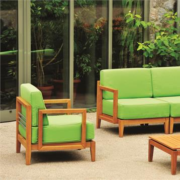 Haste Outdoor Lawn and Garden Furniture with Patio Lounge Couch & Cushions