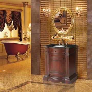"""Catherine 30"""" Single Sink Vanity with Baltic Brown Granite Top"""