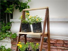 Build Your Own Ladder Shelves