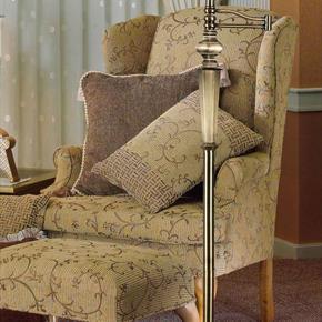 Mackinley 1 Light Swing Arm Floor Lamp In Georgetown Bronze