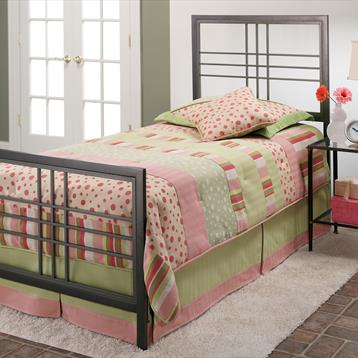 Hillsdale Furniture Magnesium Pewter Tiburon Bed Set with Rails