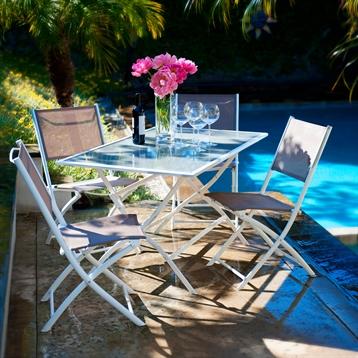 Miami Outdoor 5 Pieces Folding Dining Set