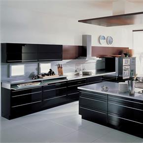 Modern Kitchen with Black island