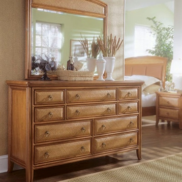 Antigua 10 Drawers Dresser In Toasted Almond