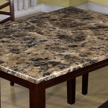 Monarch Specialties Rectangular Table Dining Room Chairs Granite Top Table