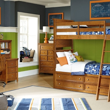 Willow Run Twin Bunk Bed In Rich Toffee Brown